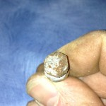 Here's the corroded bolt. It started out as 10mm but worked its way down into the SAE range.