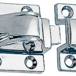 This illustration shows the difference between the catches used in the 1102DP1CHR at left and  1102DP2CHR at right.  The latch mechanism is identical.